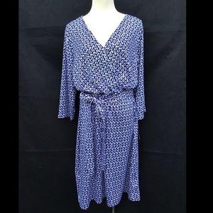 NWT Covington Tie-Front Wrap Dress